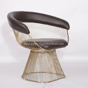 Warren Platner Stainless Steel Dining Chair Replica